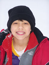 Christian having fun in the snow