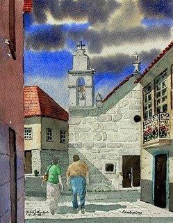 Pintura de Aguarela da Capela de Pardieiros
