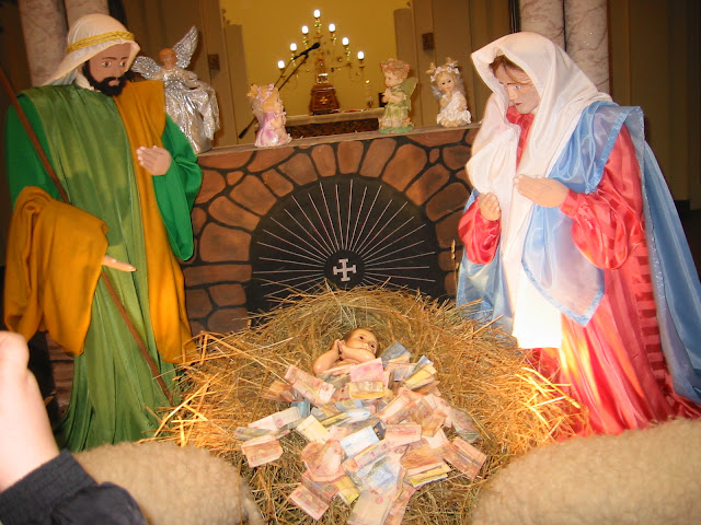 Ukrainian Christmas Shopka (Nativity scene) in St. Peter Church (Ternopil city, West Ukraine)