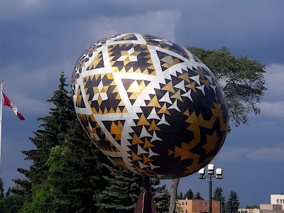 One of the World's Largest Easter Eggs in Vergeville (Canada)