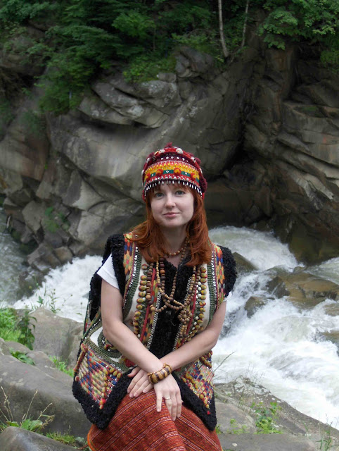 Ukrainian Girl in Hutsul Clothes