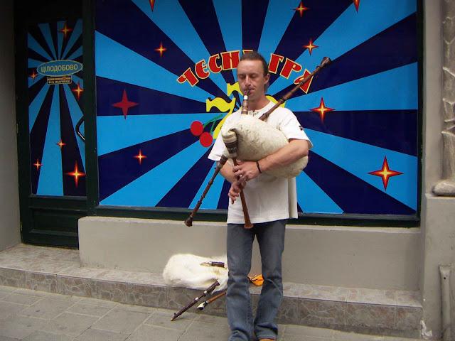 Western Ukraine: Bagpipe musician on the Lviv's street