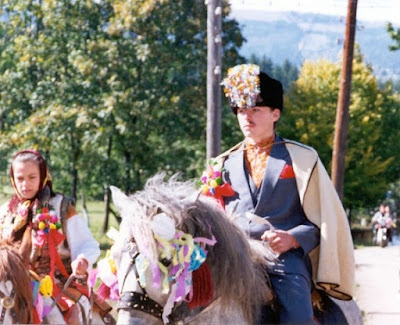 Wedding in Ukrainian Carpathians Groom On A Horse