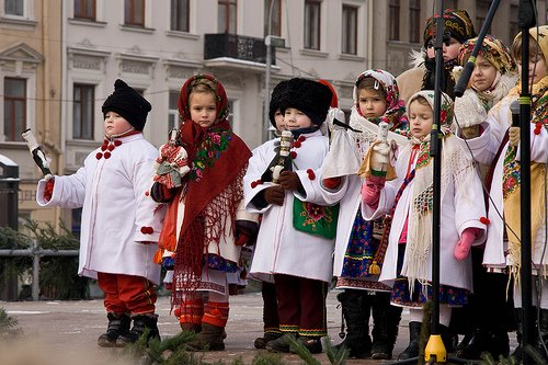 Christmas Carols Children Lviv West Ukraine