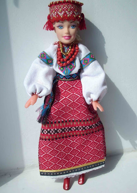 Barbie Doll Ukrainian Attire