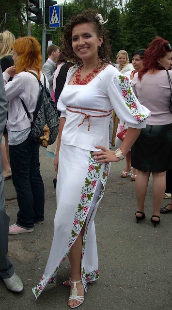 High School Graduation Ternopil Ukraine Girl Embroidered Dress