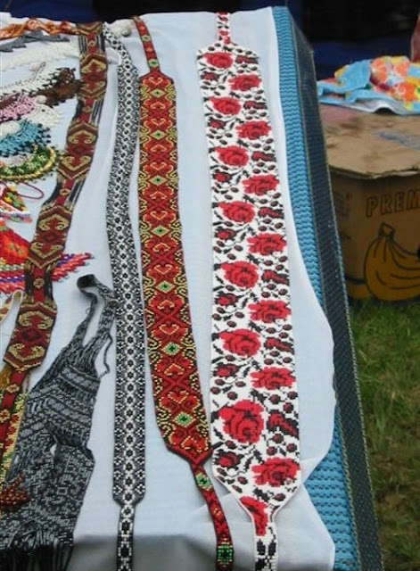Beaded Belts Carpathian Mountains Ukraine
