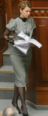 Famous Grey Dress Of Ukraine Prime Minister Yulia Tymoshenko designer Aina Gasse