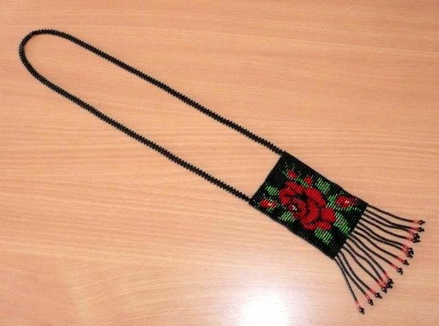 Beaded Necklace Herdan Made In Western Ukraine