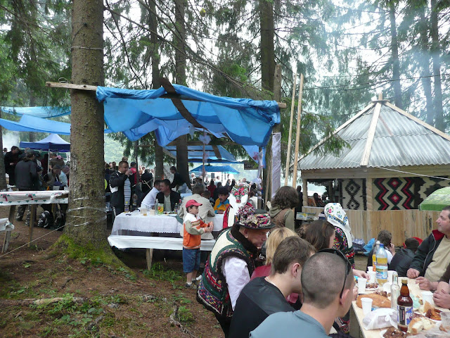 Reception At Polonyna Summer 2009 Hutsul Festival Ukrainian Carpathians