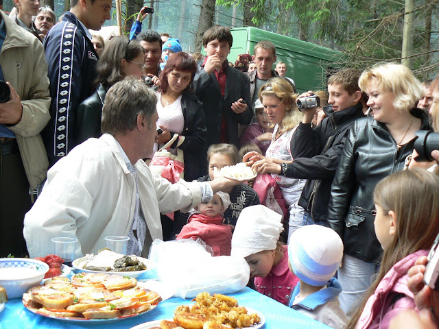 President Of Ukraine Victor Yushchenko At Polonyna Summer 2009 Hutsul Festival In Carpathians