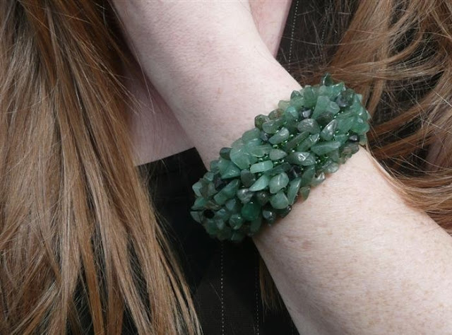 Making a Bold Statement with Heavy Beaded Bracelet from Ternopil