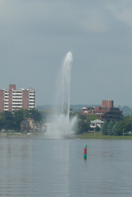 Jet Fountain in Peterborough, Ontario, Canada