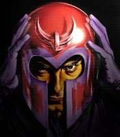 Magneto and his famous helmet.