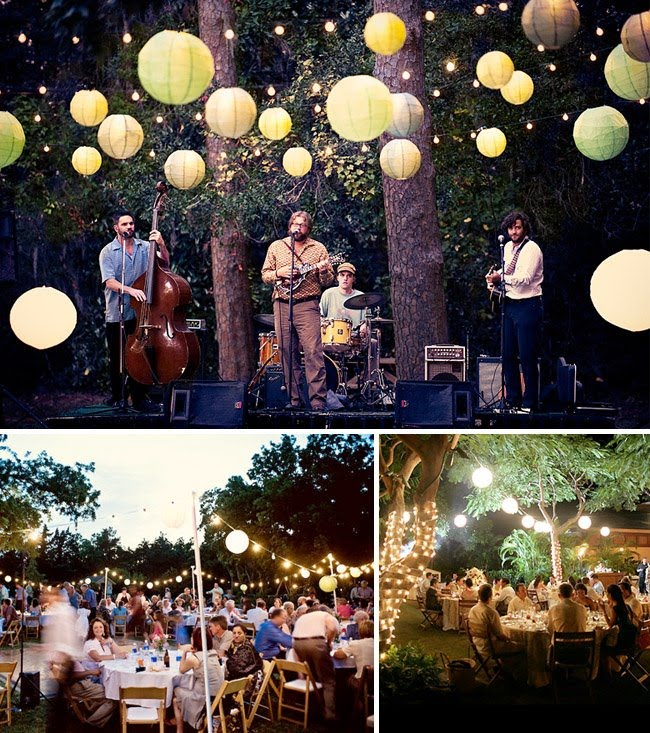 Kerri gilpin jason percy wedding wedding reception ideas for Backyard engagement party decoration ideas