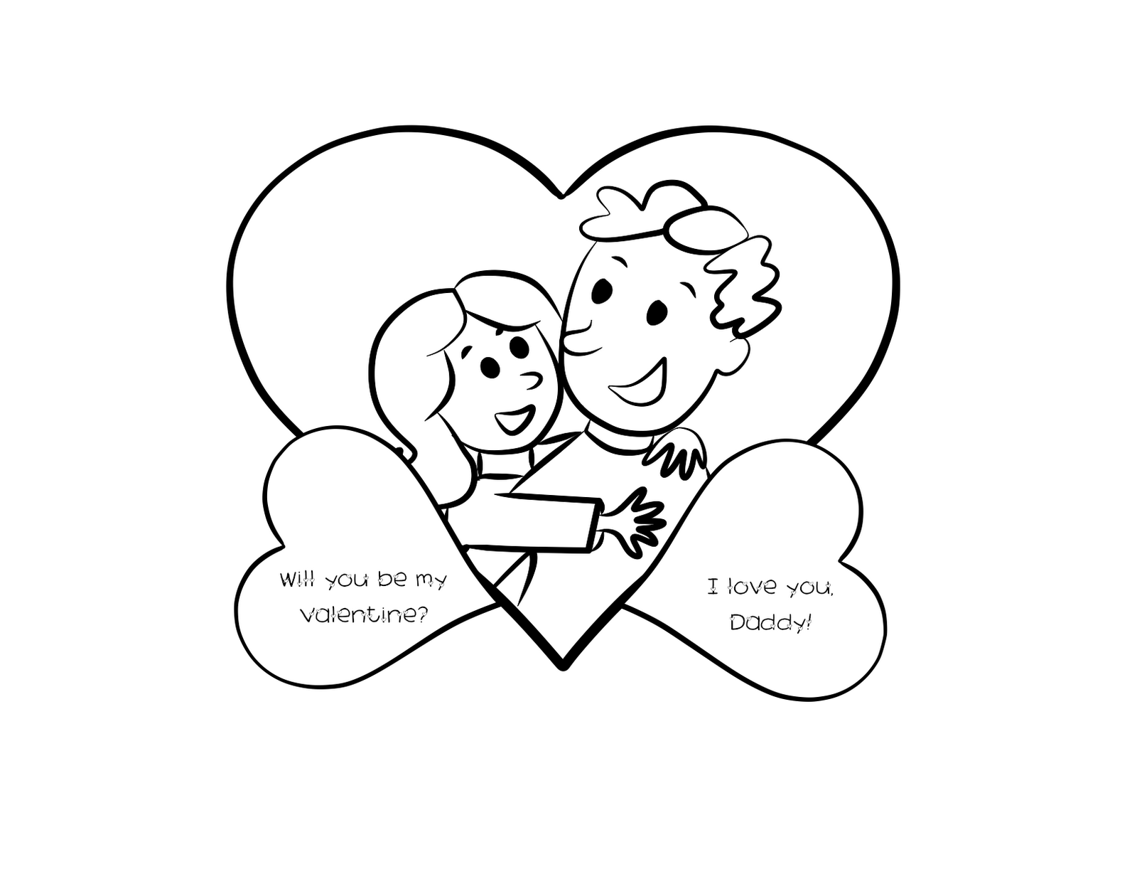 valentine s coloring pages printable for dad valentine
