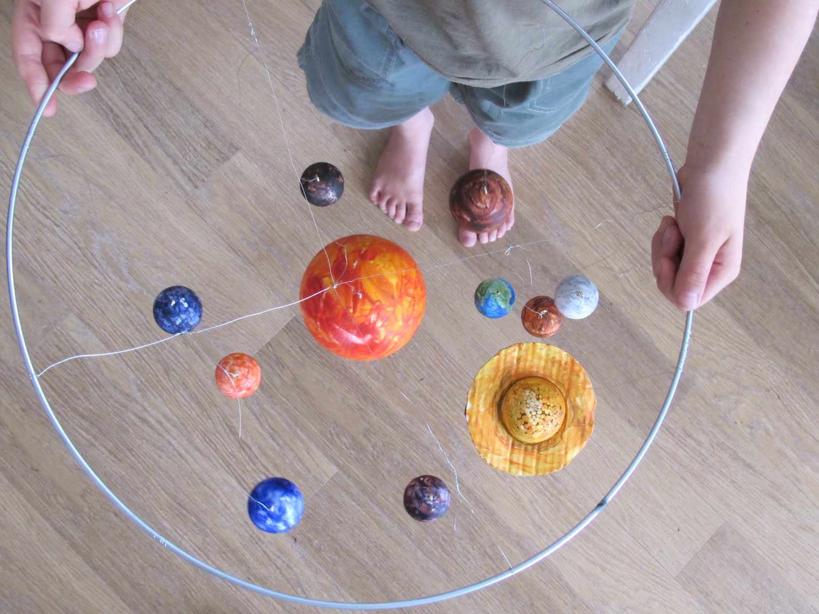 Rotating Solar System Project For School - how to make a ...