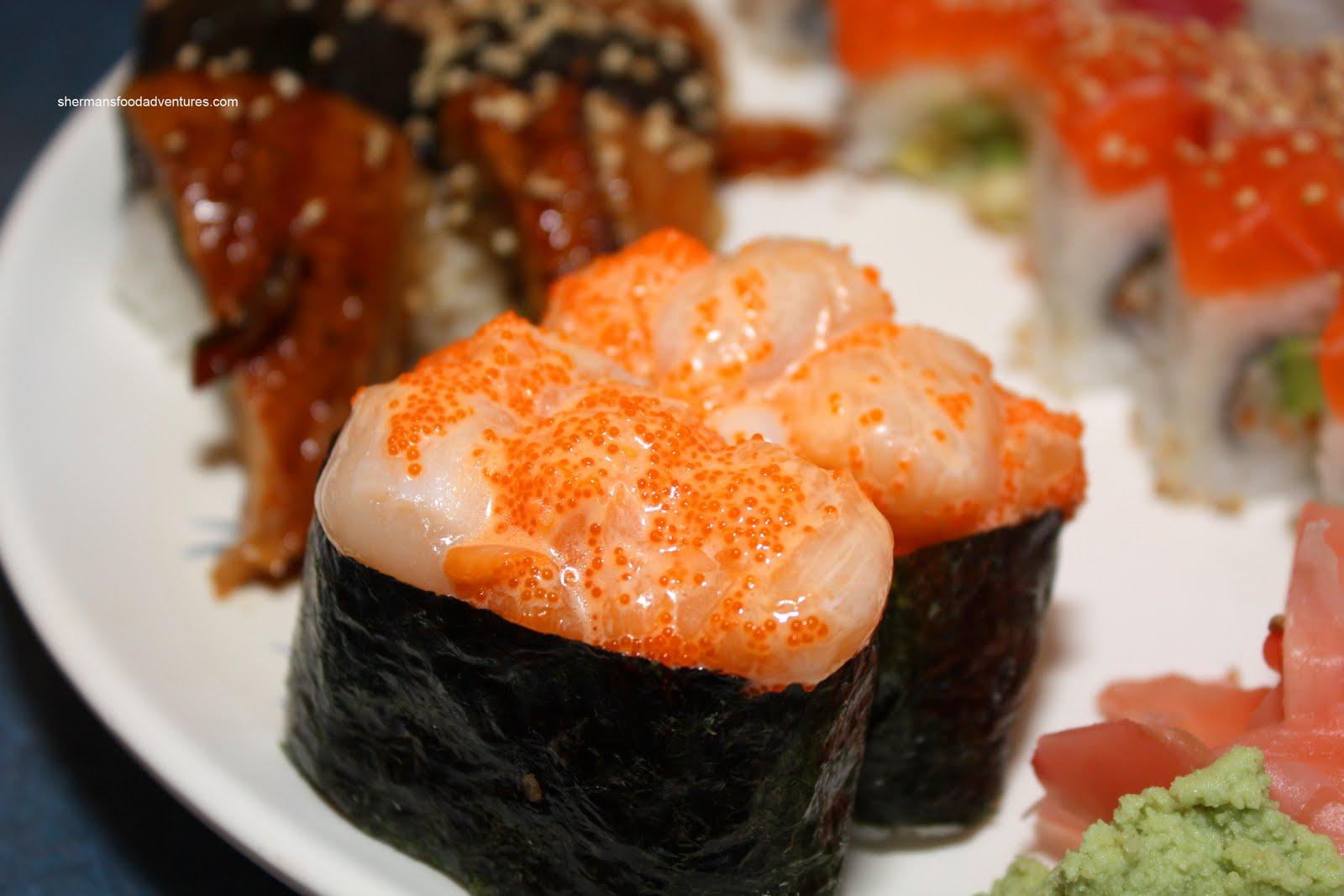 Tobiko Nigiri Sherman's Food Adventu...