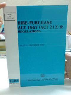 Amendments To The Hire Purchase Act 1967