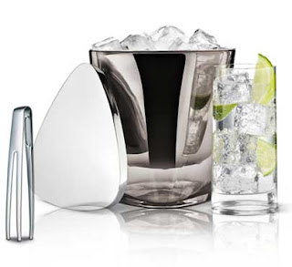 Georg Jensen Ice Bucket with Ice Tongs