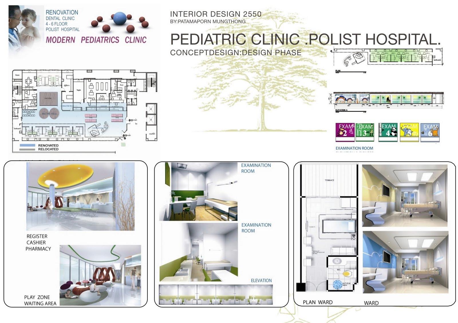 Hospital Design 2550 51 By Patamaporn Mungthong Interior Design Blueculture