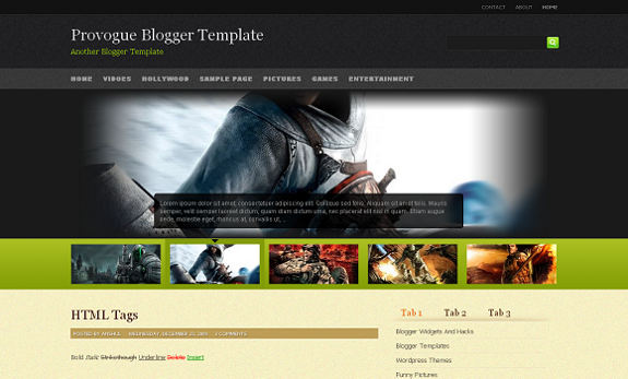 Provogue Blogger Professional Template