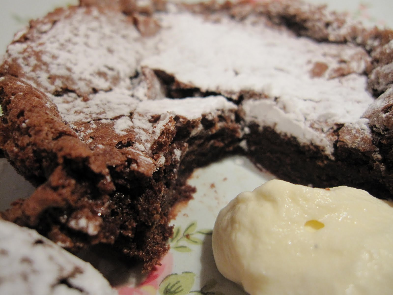 wee treats by tammy: Catching up With Dorie - ALmost Fudge Gateau