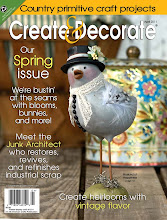 My Bluebird of Happiness on the front cover of Create &amp; Decorate magazine, April issue!