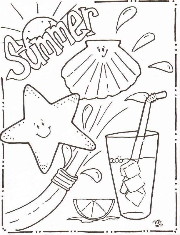 Summer Coloring Pages - Original MKB Designs title=