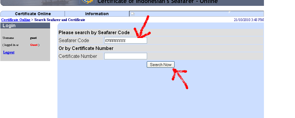 www.pelaut.go.id Update the method to check Indonesia Seafarer