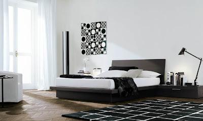 dormitorio blanco y negro