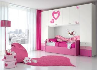 Bellos dormitorios para niñas color rosa