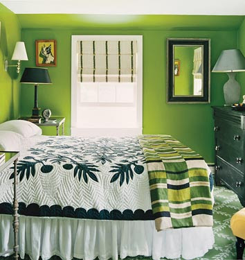 dormitorio color verde