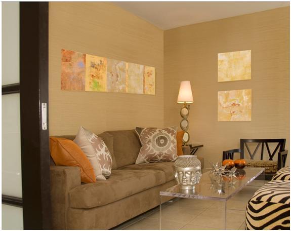 Decora y disena 5 estupendas salas decoradas por rona landman - Colores tierra para interiores ...