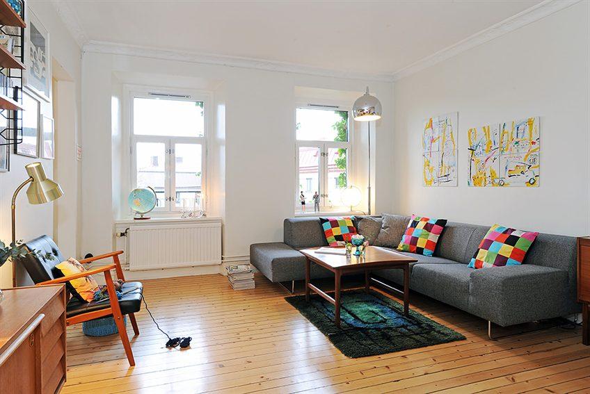 Inspiración desde suecia en diseño de interiores de apartamento de ...