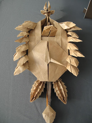 This Origami Cuckoo Clock By Artist Robert Lang Is Folded From One Uncut 1x10 Piece Of Paper As Outrageously Amazing That And Much I Love