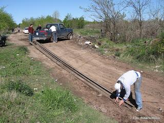 Reparacion del 2do corte de via situado en el km 46