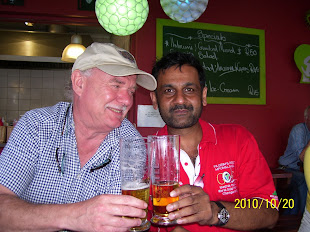 Gunnar - expert on Folkbildning and Sanjay from Mpumalanga -- exhausted