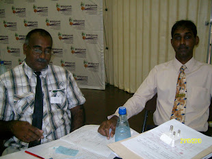 Gary- Twinning Chairperson and Ruben - Conference Programme co-ordinator -- Registeration