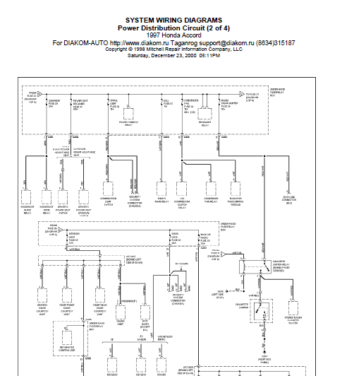 1997 honda accord power window wiring diagram 2003 honda 92 Accord D4 Light Blinking 90 Accord
