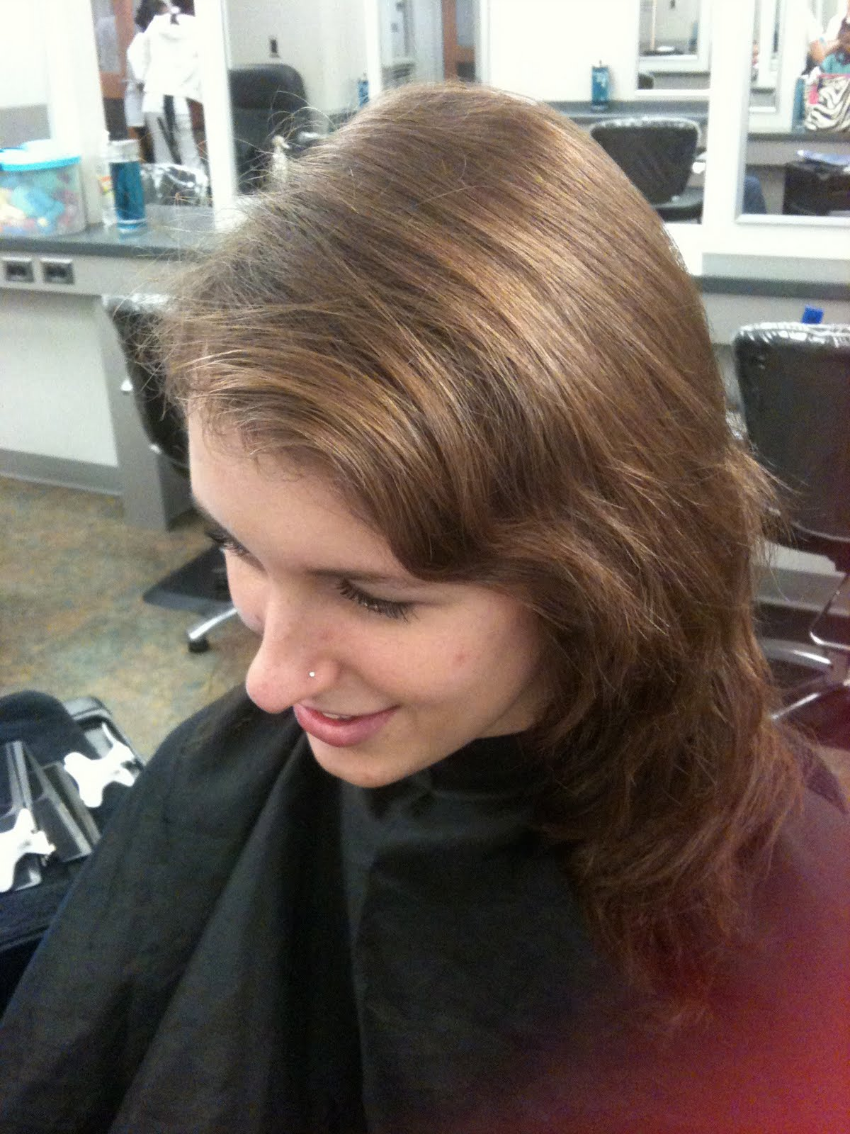 Dark Brown Hair Color With Chunky Highlights Brunette to dark blonde