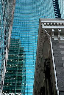 The old meet the new, Shiodome, Tokyo