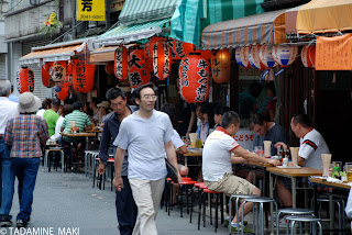 Japanese pubs on Sunday at Asakusa