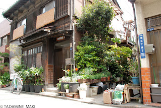 The ordinary scenery of old towns in Tokyo, at Tsukuda town
