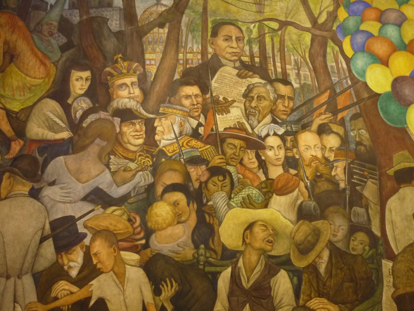 Britoky dj fotografias sue o de una tarde dominical en la for Un mural de diego rivera