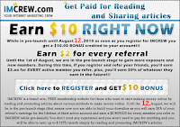 Earn $10 Right Now from IMCrew.com