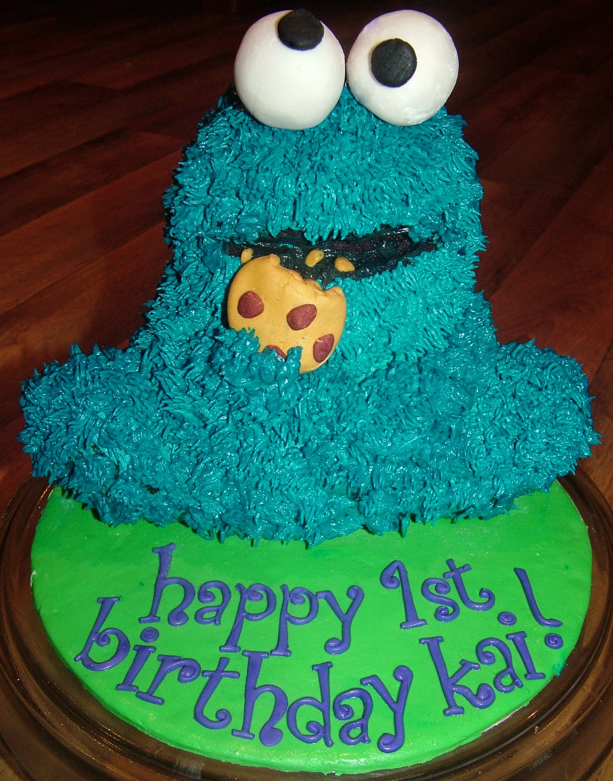 how to make a 3d cookie monster cake
