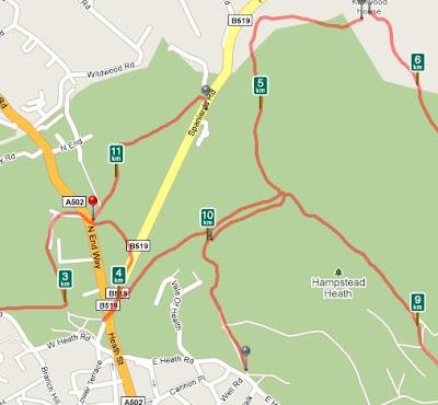London Marathon Diary Of An Amateur - How far did i run map