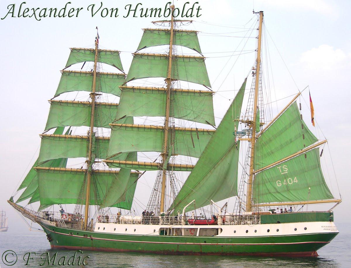 Voilier A Trois Quatre Ou Cinq Mats Alexander Von Humboldt
