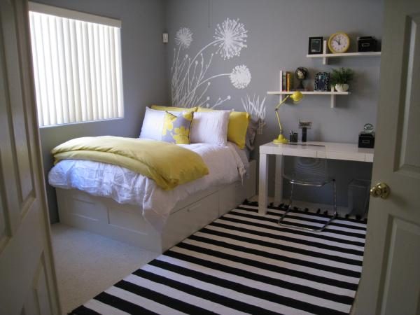 yellow and gray kids bedroom yellow gray